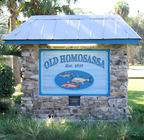 Old Homosassa Sign